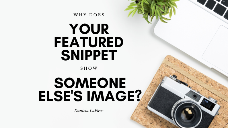 Why does your featured snippet show an image from another domain?