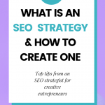 what is an seo strategy and how to create one