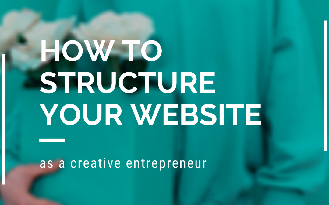 how to structure your homepage and website