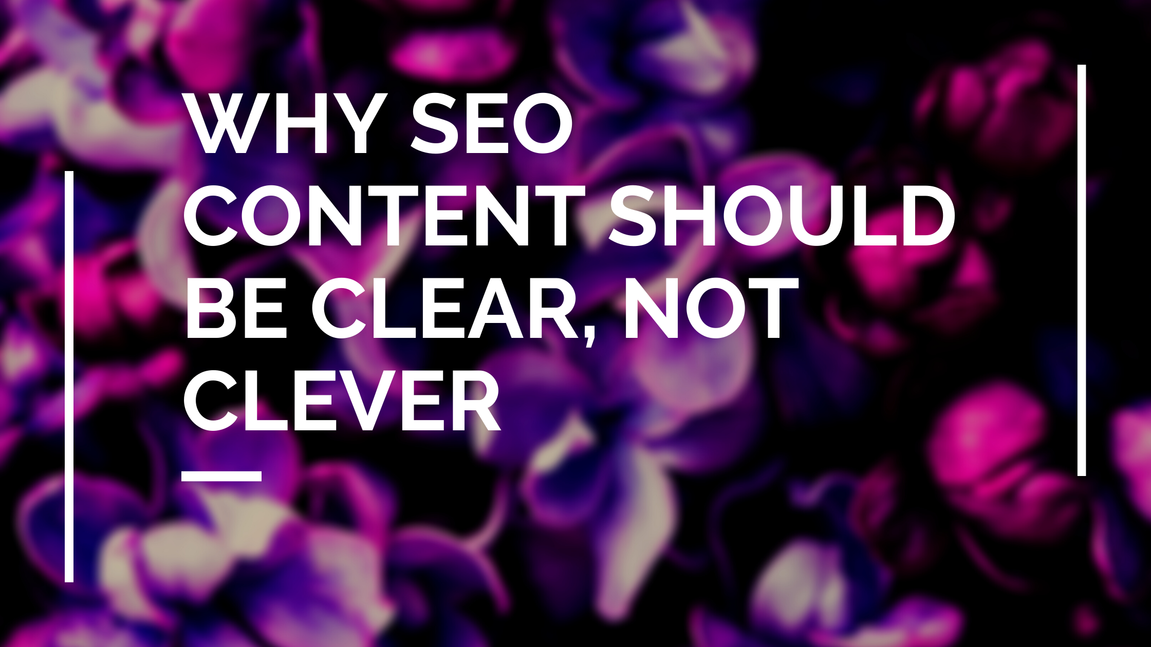 why seo content should be clear not clever title image
